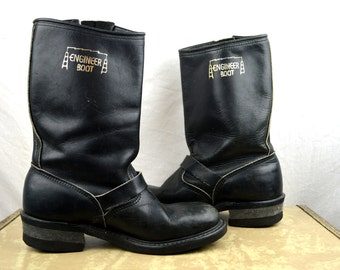 Vintage Goodyear Black Engineer Harness Boots