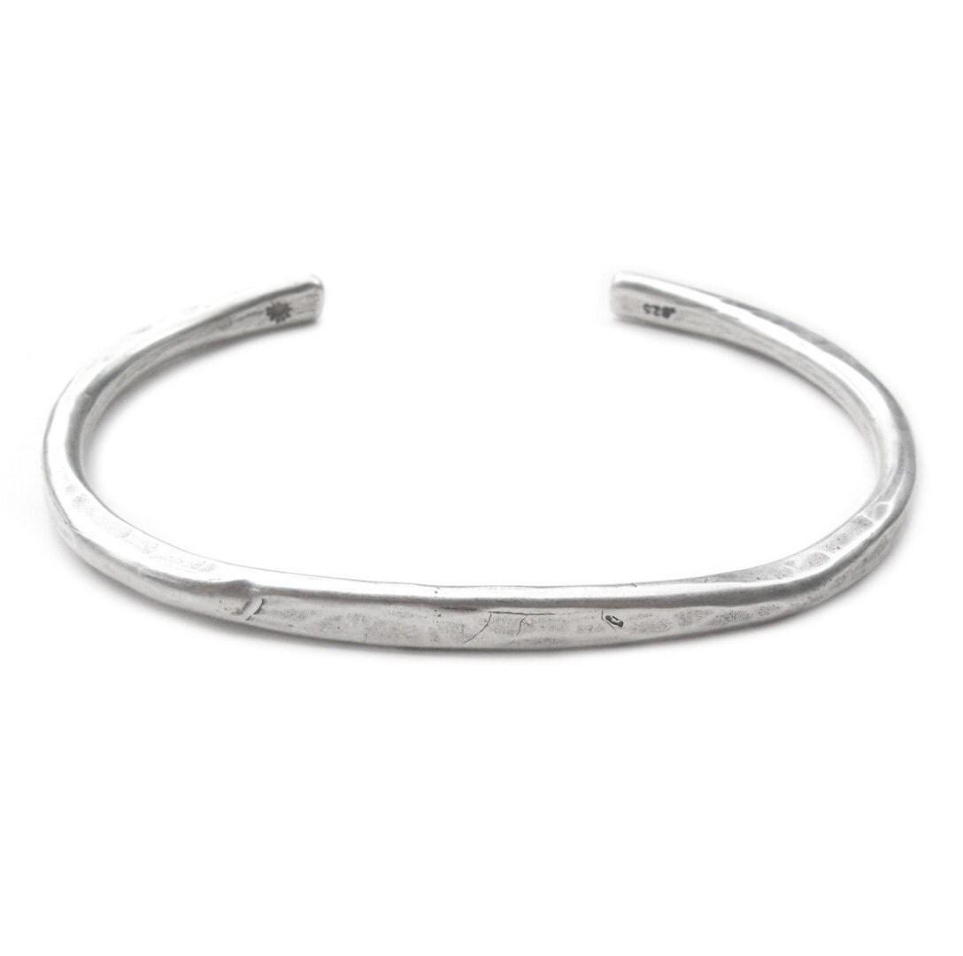 men 39 s silver cuff bracelet oxidized sterling bracelet. Black Bedroom Furniture Sets. Home Design Ideas
