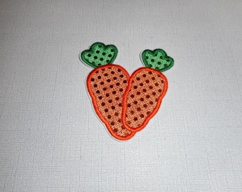 Free Shipping Ready to Ship  Easter Carrots machine embroidery  Iron on applique