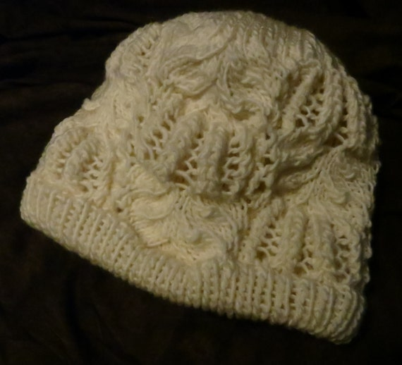 Knitting Pattern Lined Hat : Frost Flowers Lined Hat Knitting Pattern