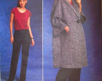 vogue american designer pattern 1128 ~ anne klein new york coat, top and pants ~ (2009) ~ UNCUT