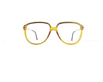 Christian Dior Monsieur Eyeglasses Frames Women's 1980's Translucent Yellow with Gold Frames Made in Austria Model 2337 #M409 DIVINE