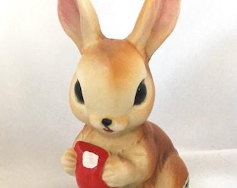 Vintage Josef Originals brown bunny rabbit figurine