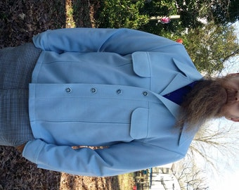 35% OFF Mens 70s Jacket/ 70s Costume/ Vintage Jacket by Haggar in Light Blue/ Vintage Costume Size M