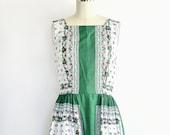 Vintage 1950s Dress • Party Dress 50s • Floral Dress
