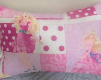 "BARBIE PILLOW (one pillow), Decorative Pillow, 17"" X 11"" - Hand Crafted"