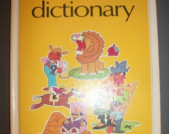 Vintage Fun with Words Dictionary 2 Book Hardcover Set Ertel Southwestern