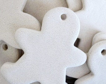 Salt Dough Ornaments, DIY,  Unfinished  Gingerbread Man Ornaments