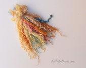 Hand dyed Teeswater long wool locks in mix for Doll Hair - Blythe Doll Hair ,  Art Dolls, pullip , spinning and felt