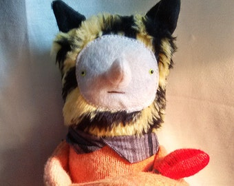 Plush Tiger Boy Doll