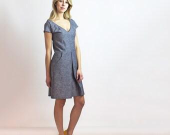 Alexa Dress / Organic Cotton & Hemp Denim dress - Sustainable Ethical fashion - New collection