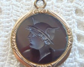 Vintage Pocket Watch Fob Intaglio Cameo Carnelian Glass