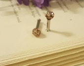 Mocha Rhinestone Disco Ball Plugs Gauges 10g, 8g t253