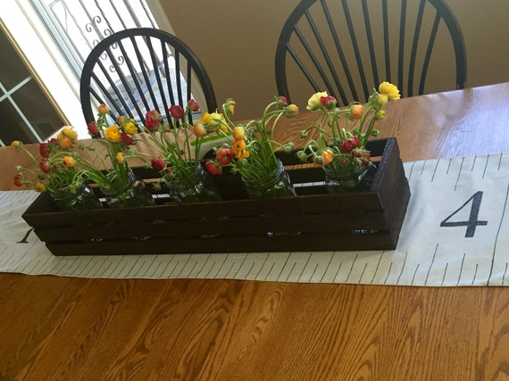 Table centerpiece wooden crates centerpieces wedding