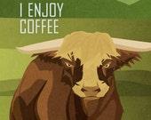Bull Enjoys Coffee