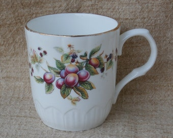 Crown Trent Fruit Mug or Coffee Cup, Vintage Staffordshire England Bone China