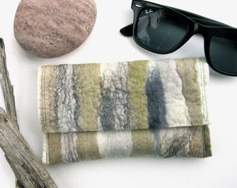 Soft Sunglass Case - Mens Gift Idea - Reading Glass Pouch - Driftwood
