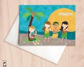 Luau Hula Party - Birthday Greeting Card