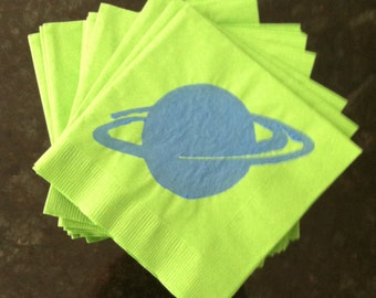 Green Saturn Paper Cocktail/ Lunch/ Dinner Napkins