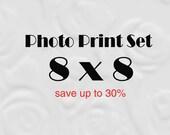 8x8 photo, 8x8 Print, 8 x 8 Print Set, SAVE 30%