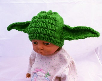 Yoda Hat Baby or Newborn Prop