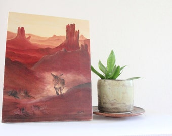 desert burro / original acrylic
