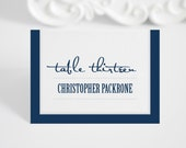 Contemporary Place Cards or Escort Cards for Your Wedding, Modern Logo Design Deposit
