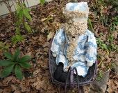 Blue Flower Garden Santa Doll