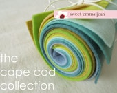 9x12 Wool Felt Sheets - The Cape Cod Collection - 8 Sheets of Felt