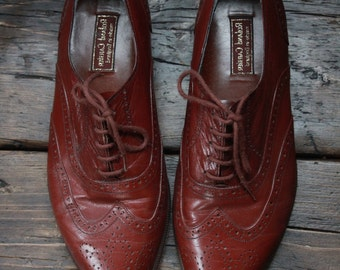 Brown Leather Brogues by Roland Cartier SIze 8.5
