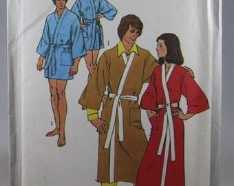 Simplicity 9507, Men's Robe and Belt Sewing Pattern, Kimono Robe Sewing Pattern, Uncut, Size Medium, 38 to 40, Uncut