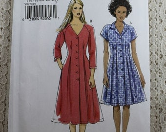Vogue 8970, Misses' Dress Sewing Pattern, Very Easy Dress Pattern, Easy Sewing Pattern, Misses' Size 16, 18, 20, 22, 24, Uncut