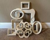 Vintage Frame Collection Heirloom White Set Medallion Oval Curvy 10 pc