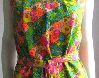 60s vintage mod groovy dress