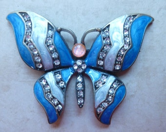 Blue Jeweled Butterfly Magnet