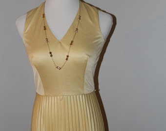 70s Yellow Cocktail Dress with Jacket