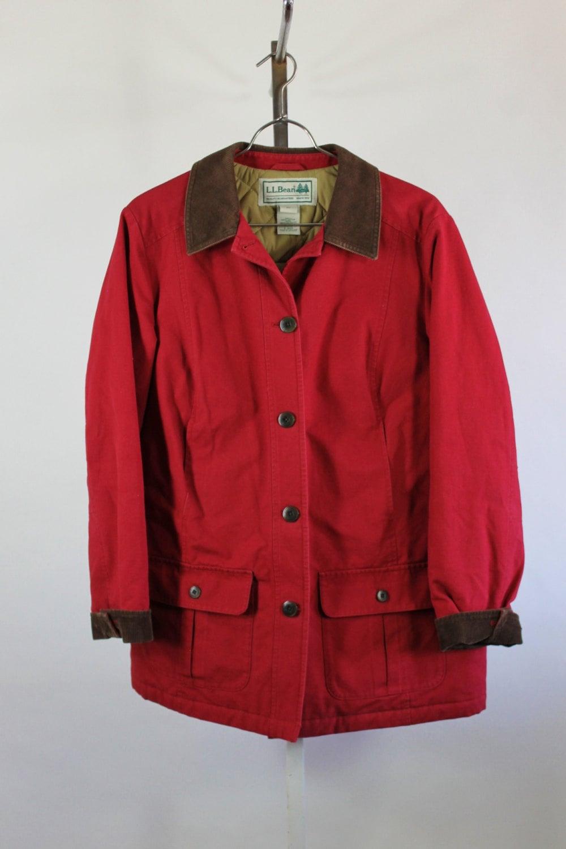 SALE Vintage Red L.L. Bean Barn Coat Field Jacket Mens