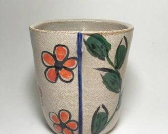 Handmade stoneware mug rustic ceramic by littlepotteryventure - Handleless coffee mugs ...