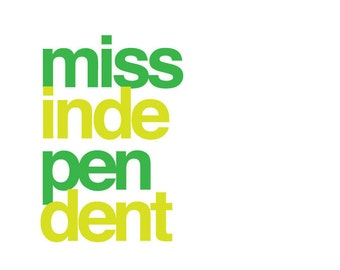 Miss Independent Bachelorette Party Shirt Design