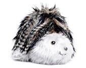 Toy Baby Hedgehog Unisex Toy Black Grey Striped Fleck Faux Fur Silver Grey Plush COLDHAMCUDDLIES Stocking Stuffer Christmas Present