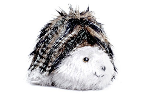 Toy Baby Hedgehog Unisex Toy Black Grey Striped Fleck Faux Fur Silver Grey Plush COLDHAMCUDDLIES Stocking Stuffer Christmas Present
