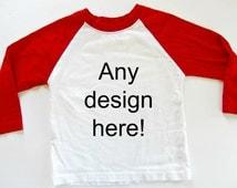 Custom Shirts Baseball Tee for Toddlers Custom Raglan Shirt for Women Baseball Tshirts Personalized Shirts Baseball Theme Birthday Party