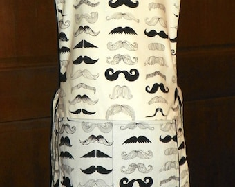 Where is my Stache  Kitchen Cobbler *Lined Apron* Smock makes a fun and fabulous Kitchen Accessory, Nanasaprons