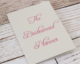 bridesmaid planner - maid of honor - matron of honor - organizer - jotter - wedding planner - budget - bridal shower planning - gray