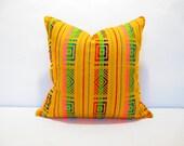 Yellow Pillow, Tribal Pillows Covers, Colorful Pillow Covers, Bohemian Decor, Boho Bedding, Mexican Cushion, Square, tribal pillowcase