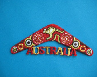 SALE~ Iron-on Embroidered Patch Australia Boomerang 4.6 inch