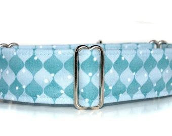 Martingale Dog Collar,,, Blue Ice,, Icy Blue Martingale Dog Collar in 1.5 inch or 2 inch width