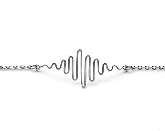 Science Gifts for Her, Science Graduation Gift for Her, Sound Wave Bracelet, Soundwave Bracelet, Music Gift, Physics Gifts for Her