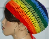Clearance Ready to Ship Crochet Beret Hat Tam by Razonda Lee Razondalee