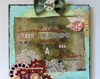 Mixed Media - 12 x 12 Wall Art Canvas - Dwight D. Eisenhower Quote - Inspirational - Life's Journey - Destination - Life Quote